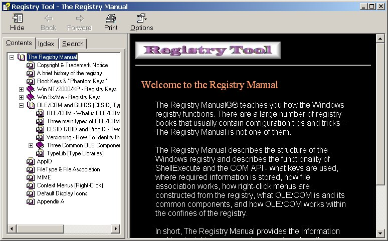 Registry Tool - Windows 95 98 ME NT 2000 XP 2003 Vista The Registry Manual